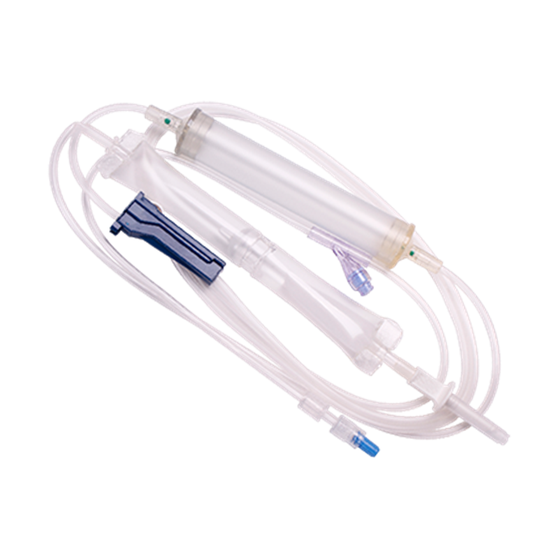 Transfusion Pump Set with Flexible Chamber and NAS